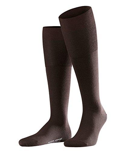 Wolle Knie Hohe Socken (FALKE Airport Kniestrumpf 15435 Herren Str?mpfe & Strumpfhosen/Str?mpfe & Socken/Kniestr?mpfe, Gr. 47/48 Braun)