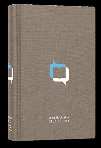 John MacArthur Studienbibel - Schlachter 2000: Leinen (fester Einband), Farbprägung, runde Ecken