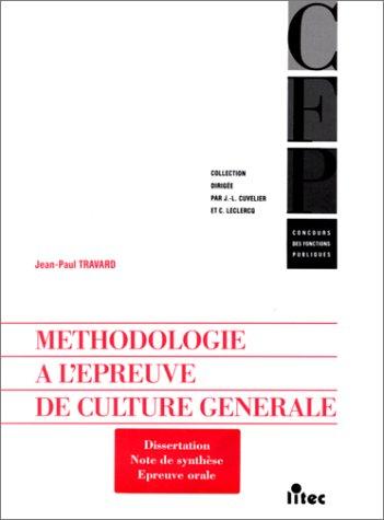 Concours des fonctions publiques : Méthodologie à l'épreuve de culture générale