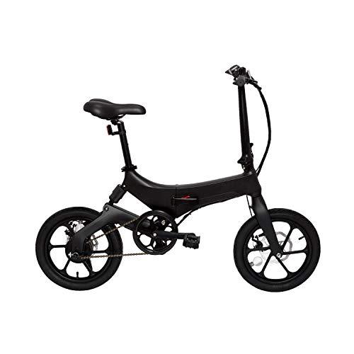 """Marktneuheit 2019 Elektro Klapprad bis zu 50km Reichweite und 25km/h Geschwindigkeit überall Mitnehmen Faltrad e-Bike 16\"""" Camper Bike Pedelec Straßenzulassung (Schwarz)"""