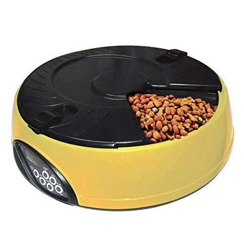 ETH Automatischer Futterautomat 6 Mahlzeiten Intelligenter automatischer Futterautomat LCD-Display Hund Katzenfutterautomat Timing Record Bowl dauerhaft