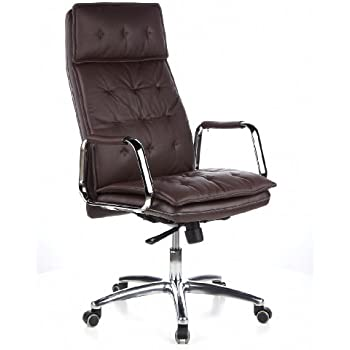 Bürostuhl designklassiker  hjh OFFICE 600924 Bürostuhl Chefsessel VILLA 20 Nappaleder braun ...