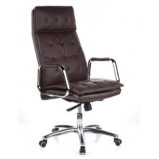 hjh OFFICE 600922 silla ejecutiva VILLA 20 cuero napa color marfil silla de oficina alta gama
