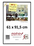 3-B Bilderrahmen: Poster - Posterrahmen mit Antireflex Polyesterglas und Einzelverpackung - Schwarz - 61x91,5 cm