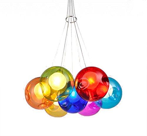 Hängeleuchte Pendelleuchte Farbige Bubble Ball Lampe Glas ...