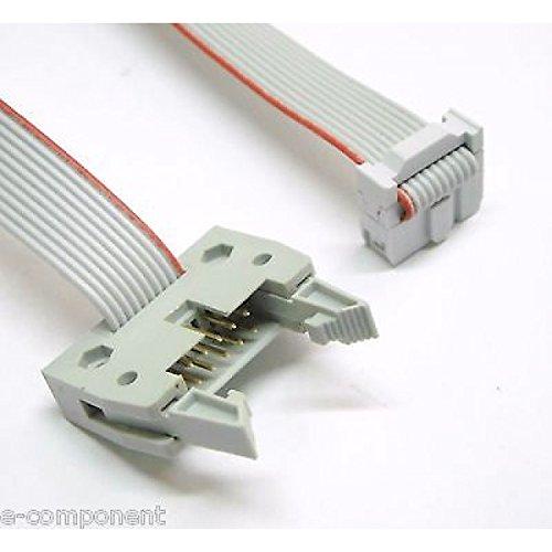 Verlängerungskabel Flat Cable 3m 10-polig mit 2Buchsen-F-Länge 30cm (Verlängerungskabel 3 Flat Meter)