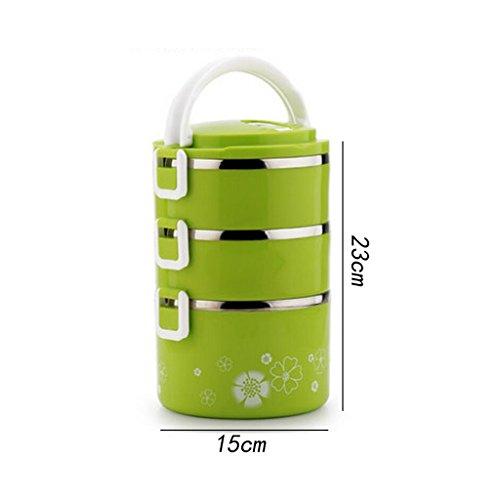 Liu Yu · da cucina, casa, picnic Home multi–Storey stainless steel lunch box grande–Capacità isolamento isolante pranzo scatole di inviare borse Posate da pasto C2 B1