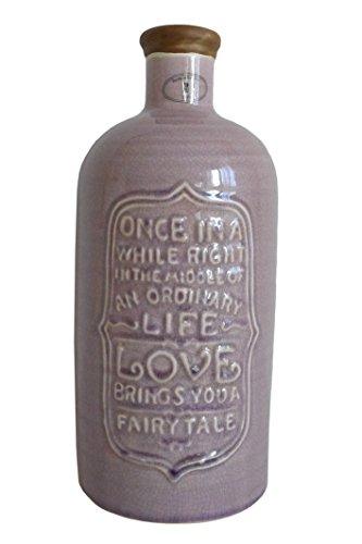Schöne Deko Flasche ~ alt rosé ~ im antik Look Krug Keramik Vase Dekoration Dekoflasche