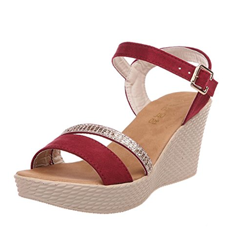 Xiuhong Shop charol zapatos casuales calzado deportivo zapatos mujer (EU35.5, plata)