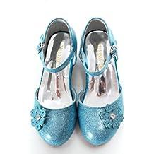 ELSA & ANNA® Niñas Última Diseño Buena Calidad Princesa Reina de Nieve Partido Zapatos Zapatos de Fiesta sandalias BLU11-SH (BLU11-SH, EURO 24-Longitud:16.0cm)