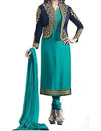 Darshita International Women's Salwar Suits Dress Materials (Prachiturquoise_Turquoise)
