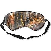 Schlafmaske aus Seide, für Damen und Herren, ultimative Schlafhilfe für Reisen und Nachtruhe (Tier-Hund Wald Herbst... preisvergleich bei billige-tabletten.eu