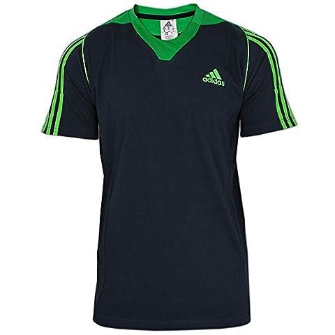 adidas Herren Shirt Präsentations Tee (grau-grün, 54 (L)