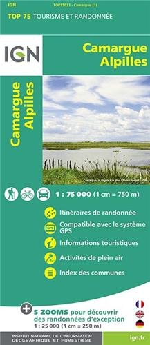 TOP75033 CAMARGUE/ALPILLES  1/75.000 par IGN