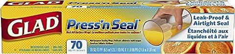 GLAD Press'n Seal Multi Purpose Sealing Wrap 70-Foot Roll (21.6 x 30cm) by Glad