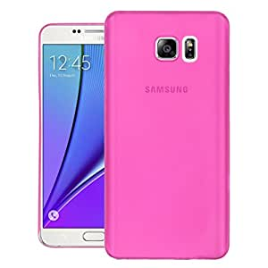 Defender Ultra Slim Thin Fit Note 5 Case with Semi-transparent Non Slip Matte Surface Back Cover Case for Samsung Galaxy Note 5 - Pink