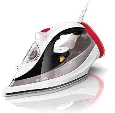 Philips Azur Performer - Plancha (Plancha vapor-seco, Suela de SteamGlide, 2 m, 200 g/min, Negro, Gris, Rojo, Color blanco, 45 g/min)