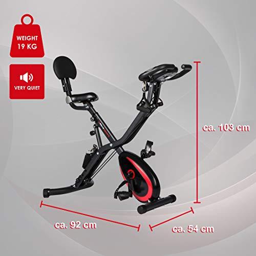 Ultrasport F-Bike 400BS Fahrradtrainer Cross mit Rückenlehne, Zugbandsystem, LC-Display und App, faltbar, matt schwarz - 4