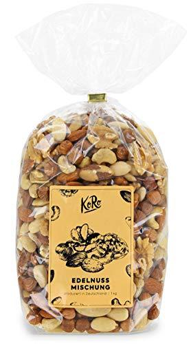 KoRo | Nussmischung | 1kg | Edle Nüsse | Mandeln | Paranüsse | Cashewkerne | Walnüsse | Haselnüsse | Ungesalzen