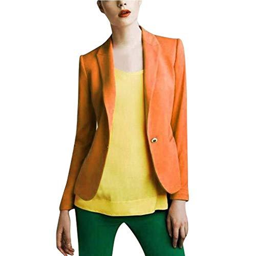 LUGOW Jacken Damen Einfarbig Lange Ärmel Knopf Mantel Strickjacke Jacke Oberbekleidung Tops Jacket Günstig Coat Mäntel Outwear...