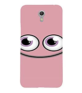 PrintVisa Cute Cartoon Pink Smiley 3D Hard Polycarbonate Designer Back Case Cover for LENOVO ZUK Z2 PRO