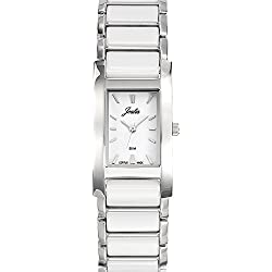 Joalia Women's Analogue Watch with White Dial Analogue Display and Stainless steel plated Bicolour - 631136