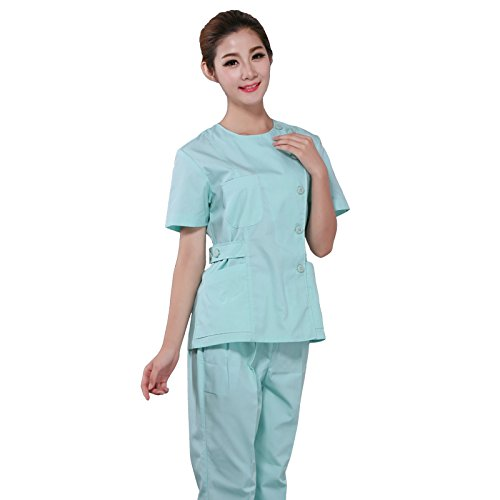 Xuanku Nurse Nurse Female Body Suit Short Sleeved Summer Overalls Dental Cosmetic Medical Pharmacy Work Clothes
