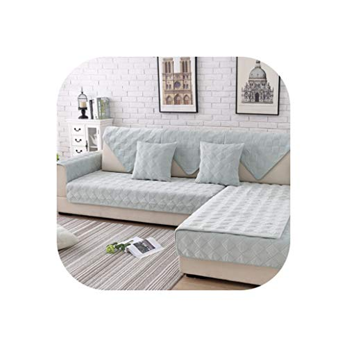 Happy Towns Sofabezug, gesteppt, Plüsch, Grau/Pink, Light Green Per Pic, 45cm45cm Pillowcase -