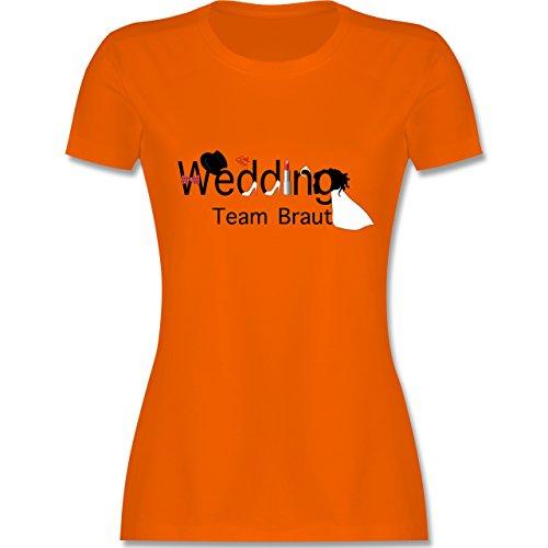 JGA Junggesellinnenabschied - Wedding Team Braut - tailliertes Premium T- Shirt mit Rundhalsausschnitt für Damen
