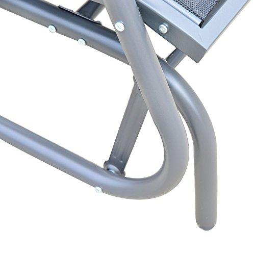 Outsunny Sitzbank, Metall, grau, 123 x 70 x 87 cm, 01-0893 - 8
