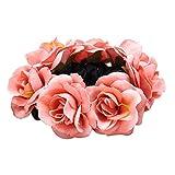 Bismarckbeer Haargummi mit Rosen-Blume, elastisch, für Damen, für Hochzeit, Party, Haarschmuck