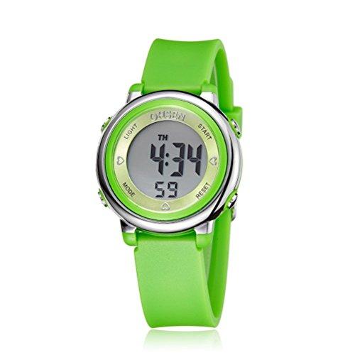 PIXNOR Chicas de múltiples funciones resistente al agua luz de fondo pantalla cuarzo reloj deportivo...