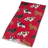 Cavalier King Charles Spaniel Dog Fabric Dogs Design - Red Headbands Bandana Cap Scarf Face Mask Neck Gaiter Headwrap Sun UV Protection