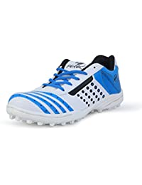 Feroc Turbo White Blue Cricket Shoes (Free Delivery)