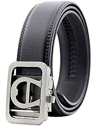 ADELINA Cinturón Automático Para Hombres Cuero Cinturón Cinturón Regalos De  De Moda Vintage Business Hebilla De 7b7319165abd