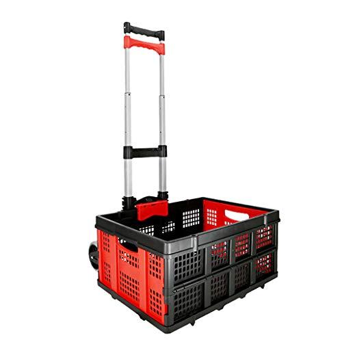 Einkaufstrolleys Haushalts-Einkaufswagen-Anhänger Gepäckwagen-Laufkatze Pull-LKW-faltender tragbarer Tellerwagen-Einkaufslaufkatze (größe : A)