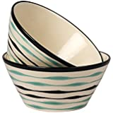 VarEesha Ceramic Mixing Bowl Set Of 2 - Ceramic Kattori, Serving Bowl Cups 650ml Each