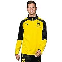 Puma BVB adultos 1/4Training Top with Sponsor Logo Sudadera, Cyber Yellow/Puma Black, 3x l