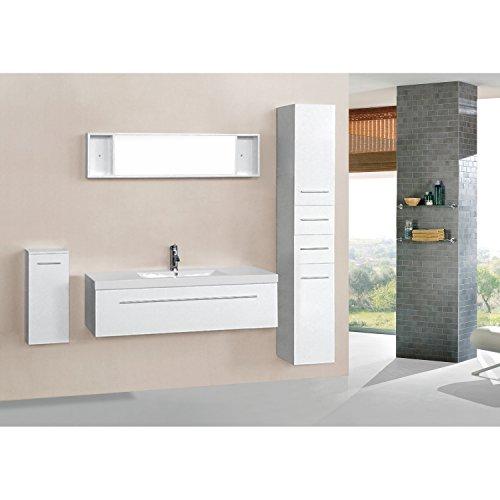 Mon Usine Discount L'Aden Blanc: Ensemble salle de bain, 1 vasque et 1 miroir