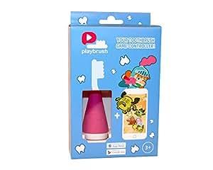 Playbrush – Bluetooth Zahnputzaufsatz für Kinderzahnbürsten zum spielerischen Erlernen der richtigen Zahnpflege, Rosa, 1 Stück