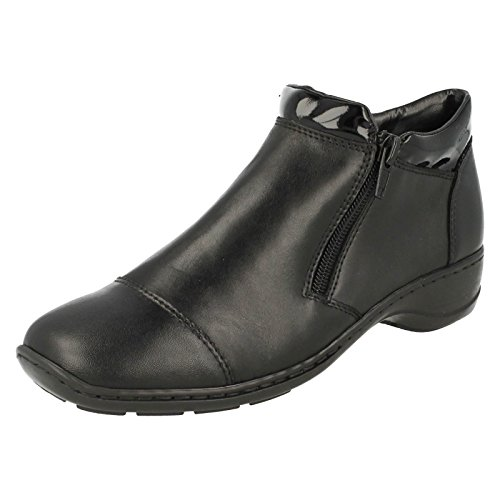 Rieker Women's Double Side Zip Ankle Boots Black