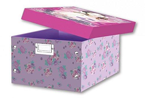 Unbekannt Faltbare Disney Aufbewahrungsbox mit Violetta Motiv Violett-motiv