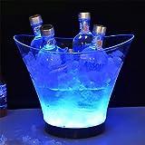 Secchiello per ghiaccio a LED, 6 l, 7 colori, raffredda bottiglie, secchiello per champagne, refrigeratore per bevande, per ristorante Pub Party Supplies Tools