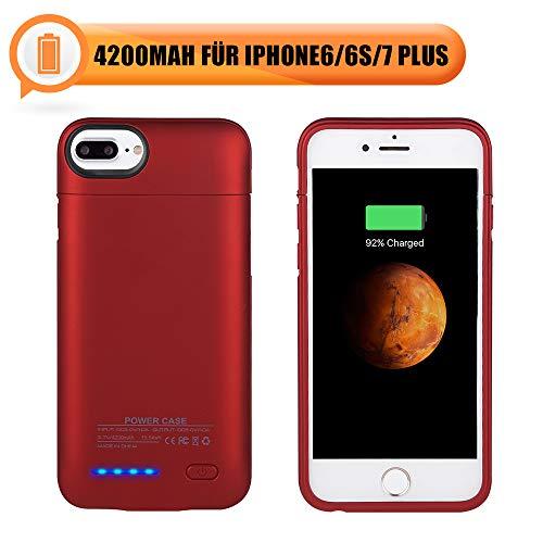 Mbuynow 4200mAh Akku Hülle für iPhone 7 Plus 3 in 1 Magnetische Battery Case für iPhone 6 Plus Ultra dünn Schutzhülle mit Magnet (Sechs Case Plus Battery)