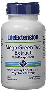 Life Extension Europe Mega Green Tea Extract Capsules, 100-Count