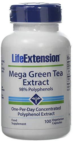 Life Extension , Mega Green Tea Extract ( Grüner Tee Extrakt ) , 725 mg , 100 Kapseln , hochdosiert , Vegetarisch , ohne Gentechnik , 98% Polyphenole - Mega Green Tea