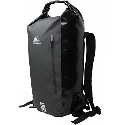 Cox-Swain-26-Litre-Dry-Bagpack-Sack-for-Trekking-Water-Sports-Cycling-Colour-Black