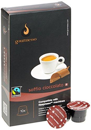 Gourmesso Soffio Cioccolato (Schokolade) - 10 Nespresso kompatible Kaffeekapseln - Fairtrade