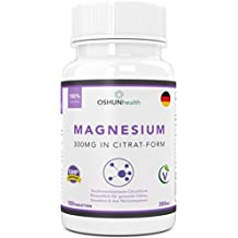 Magnesium Citrat Tabletten | 300mg Formel mit hoher biologischer Verfügbarkeit | Ergänzungsmittel für gesunde Zähne, Knochen, Nervensystem und sportliche Leistung | 120 Tabletten | OSHUNhealth | Einführungsangebot nur für kurze Zeit