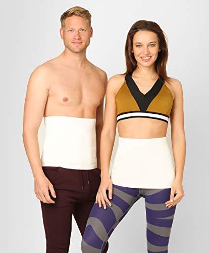 ®befit24 pancera elastica termica lombare contro mal di schiena per uomo e donna - cintura riscaldante - fascia scalda in angora e lana merino - [ size 3 ]